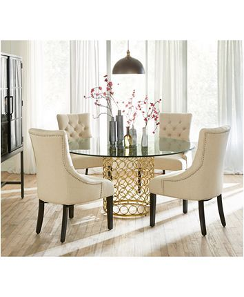 Round Dining Room Table, 60 Inch Round Glass Top Dining Table Sets