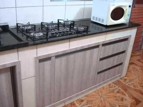 Balcao De Alvenaria Com Portas Com Imagens Cozinha De Tijolos