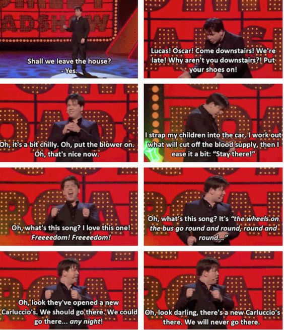 When he summed up the difference in the lives of people with and without kids.   19 Times Michael McIntyre Was Actually Really Fucking Funny