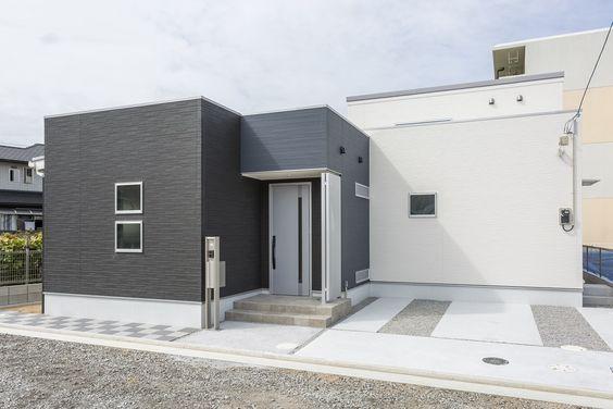 ロジアのある平屋 モダン ロジア 平屋 開放感 建築家 ハウス