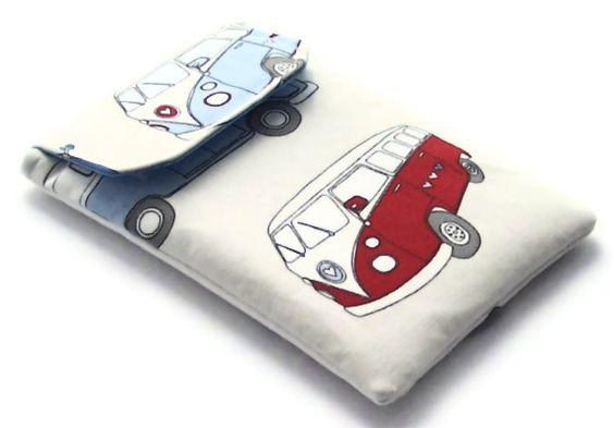 Ipad Mini Cover, Blackberry Playbook Sleeve CAMPERVAN CREAM £15.00