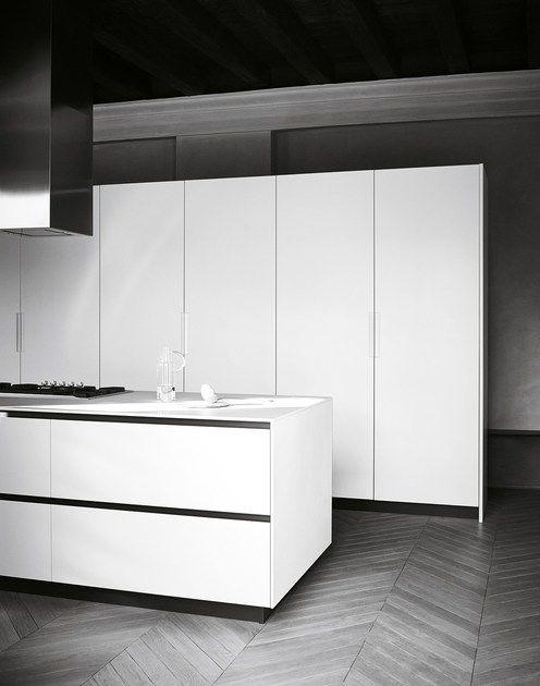 Bush Hammered Stoneware Kitchen With Island Maxima 2 2 Composition 3 By Cesar Kitchen Fittings Minimalist Kitchen Modern Kitchen