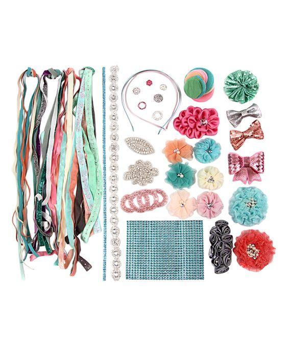 My Sunshine Shoppe Aqua DIY Fashion Headband Kit by My Sunshine Shoppe #zulily #zulilyfinds