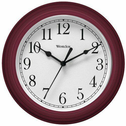 Westclox 10 Inch Diameter Round Faux Woodgrain Battery Operated Wall Clock Westclox In 2020 Clock Wall Decor Silver Wall Clock Wall Clock Glass