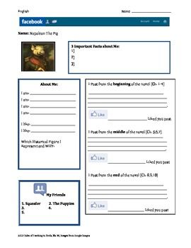 Printables Character Profile Worksheet facebook character profiles worksheet teaching pinterest worksheet