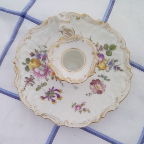 Antique porcelain candle holder hand by FrenchVintageMaison