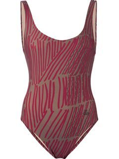 Vivienne Westwood Anglomania Matchstick Print Swimsuit - American Rag - Farfetch.com $268