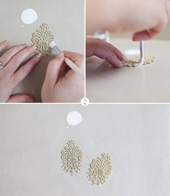 lace earrings tutorial
