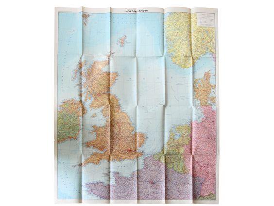 """Vintage Landkarten & Reiseliteratur - Historische Karte """"Nordseeländer"""" - 1940 - ein Designerstück von KlausUndSo bei DaWanda"""