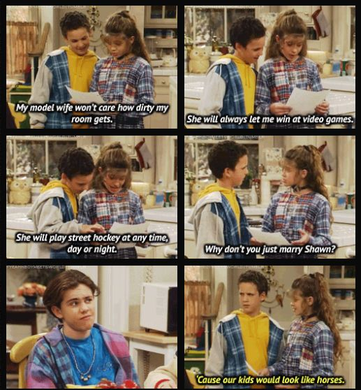 """Because even from the beginning everyone knew they were perfect for each other.   19 Reasons Cory And Shawn Were The Most Important Couple On """"Boy Meets World"""""""