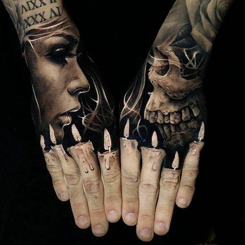 125 Best Hand Tattoos For Men Cool Designs Ideas 2019 Guide Hand Tattoos For Guys Hand Tattoos Candle Tattoo