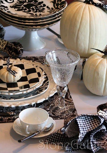 white pumpkins & a little mackenzie childs