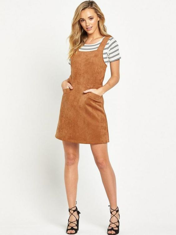 Oasis Suedette Pinafore Dress | very.co.uk