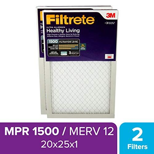 Check Out Filtrete 20x25x1 Ac Oven Air Filter Mpr 1500 Healthy Living Ultra Allergen 2 Pack Price 40 30 31 In 2020 Air Filter Electrostatic Air Filter Ac Furnace
