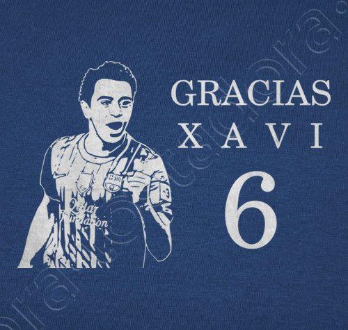 Gracias Xavi 6 camiseta homenaje