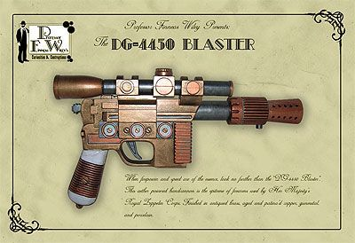 Steampunk Weapons | Steampunk Prop Gun - The DG-4450 Blaster