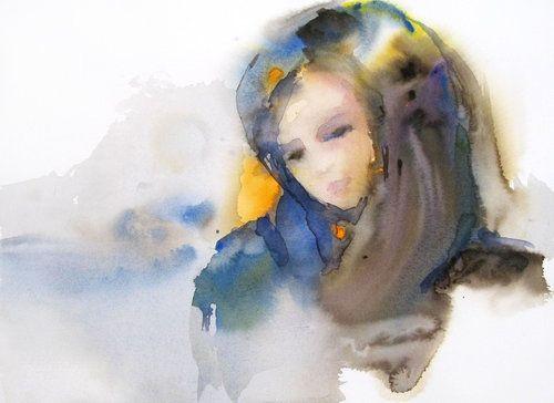 Nostalgie De Sylvia Baldeva 2015 Oeuvre Sur Papier Aquarelle