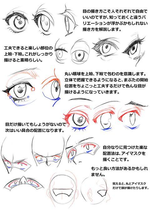 「胸の描き方と表情、髪型の描き方講座」/「