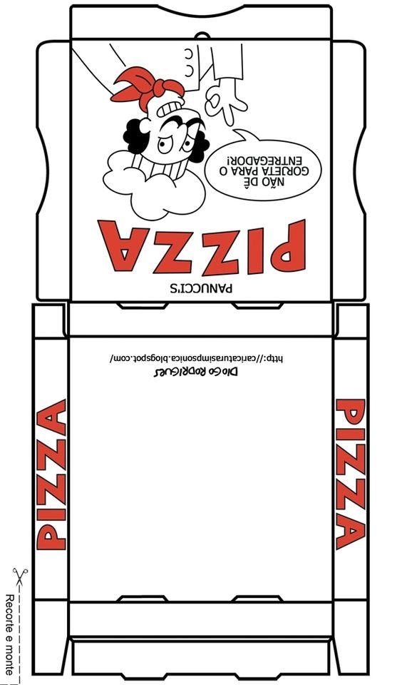 Patron de pizza pizza patron paper feutrine pinterest pizza et papier - Patron de maison en papier a imprimer ...