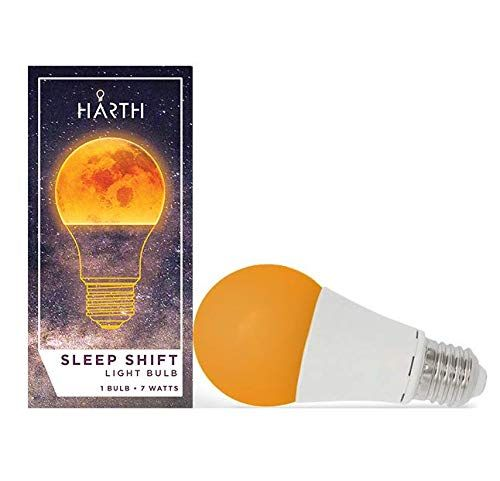 Sleep Shift Sleep Ready Light Sleep Better Naturally 7 Watt Led Amber Bulb Supports Healthy Sleep Patterns Blue Night Lights Led Reading Light Light Bulb