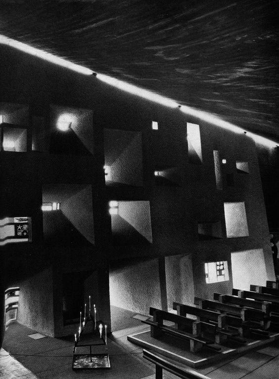 Ezra stoller notre dame du haut chapel 1952 ronchamp - Arquitecto le corbusier ...