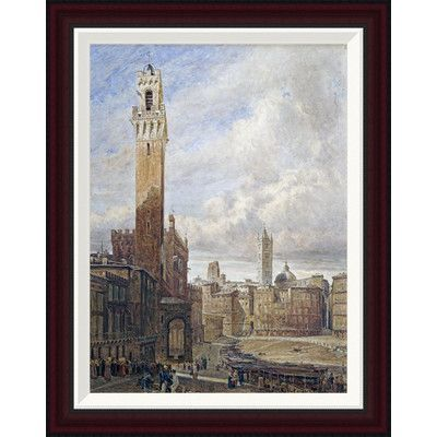 Global Gallery Piazza Del Campo, Siena by John Fulleylove Framed Painting Print Size: