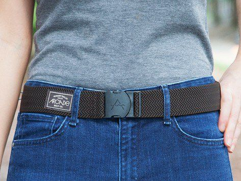 Black & Brown Elastic Belts by Arcade Belts