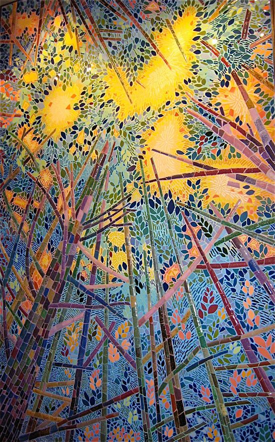 """""""Aspire"""" by mosaic artist Joshua Winer and students, Eagle Hill School Cultural Center, Hardwick, MA"""
