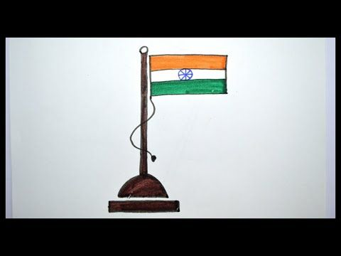 How To Draw A Flag Of India Drawing For Kids Youtube Flag Drawing Independence Day Drawing Drawing For Kids