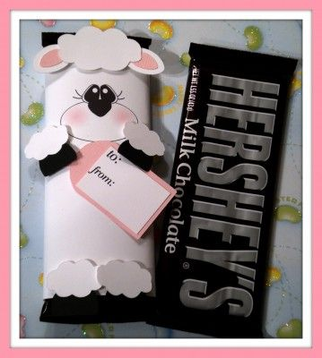 lamb chocolate bar wrapper: Candy Ideas, Candy Bar Wrapper, Wcf Ideas, Silhouette Ideas, Craft Ideas, Chocolate Bar Gift, Easter Ideas
