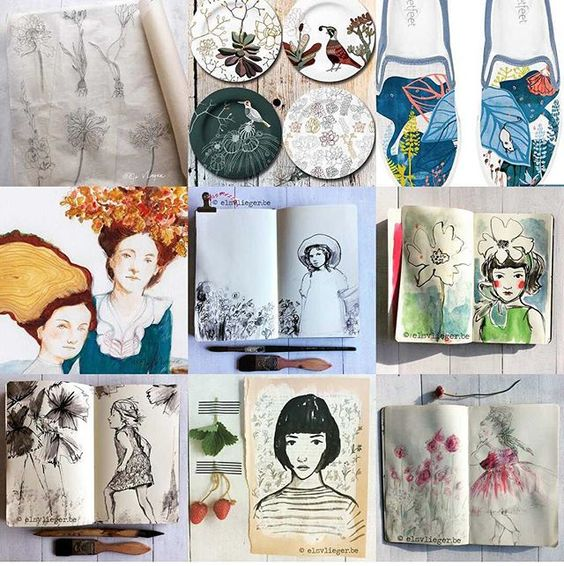 My 'best' nine posts of 2015:) #2015bestnine #drawing #sketchbook: