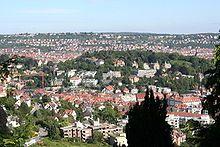 Blick auf die Karlshöhe, Stuttgart