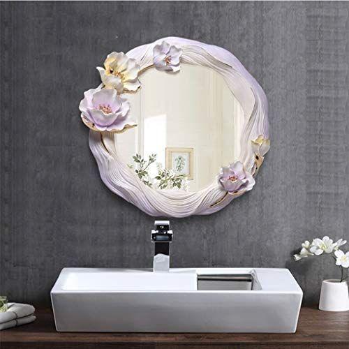 Xiuxiu Mirror Idyllic Irregular Floral Edge Living Room Background Decorative Mirror Bathroom A In 2020 Decorative Bathroom Mirrors Living Room Background Mirror Decor