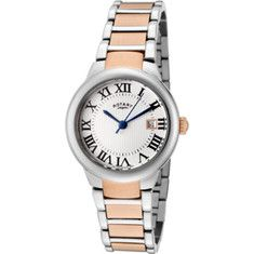 Rotary - Lb02528-01 (women's) - Two Tone Stainless Steel/silver