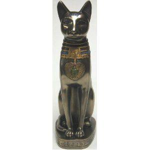 Ancient Egyptian Cat God Bastet Statue Bast Deity