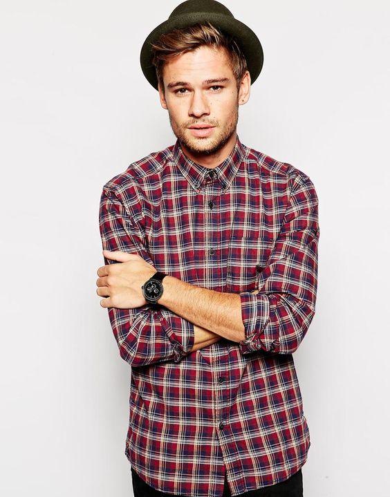 Selected Check Shirt In Slim Fit
