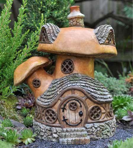 Gnome Garden: Mushroom House, Fairy Village And Mushrooms On Pinterest