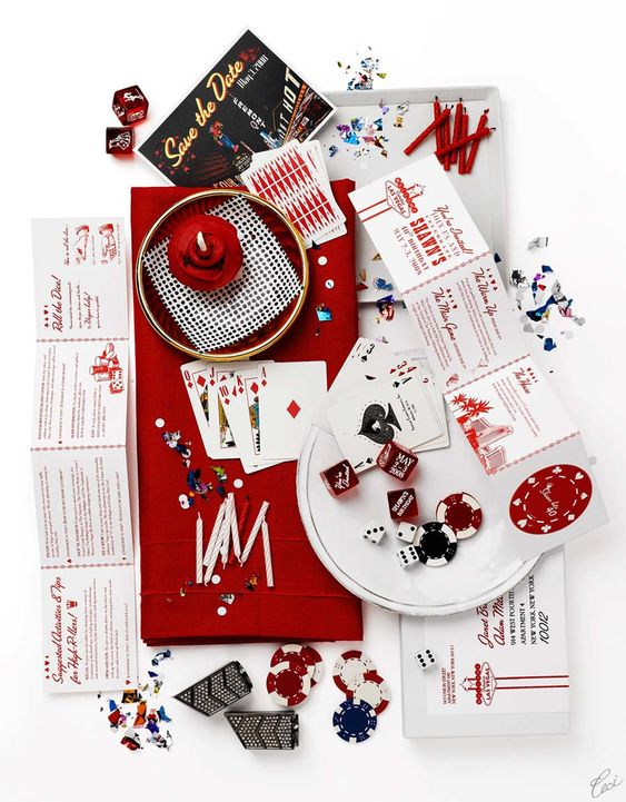Vegas inspired invitation suite by Ceci New York