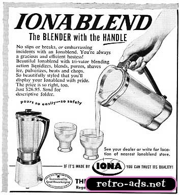 """""""The blender with the HANDLE!""""  Vintage Kitchen Appliances ads - Bing Images"""