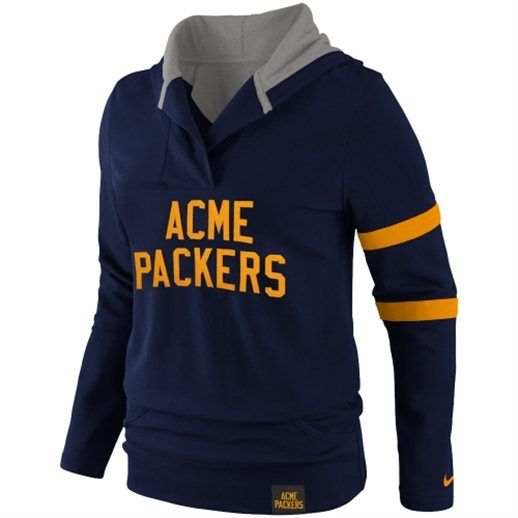 Nike Acme Packers Ladies Play Action Hoodie - Navy Blue | Packers ...
