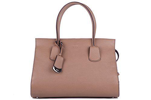 Tod's borsa donna a mano shopping in pelle nuova marrone #borse