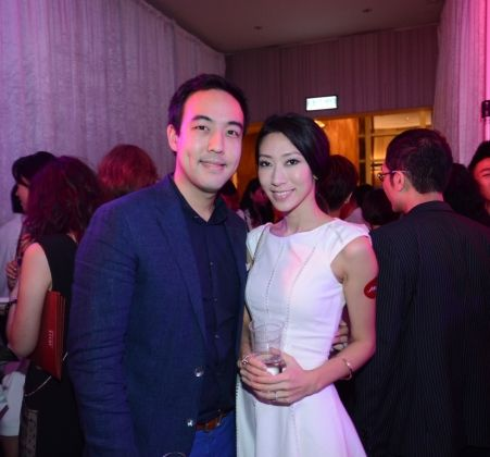Leonard Chao and Candice Chao at Shiseido Lacquer Rouge Lipstick Launch Event