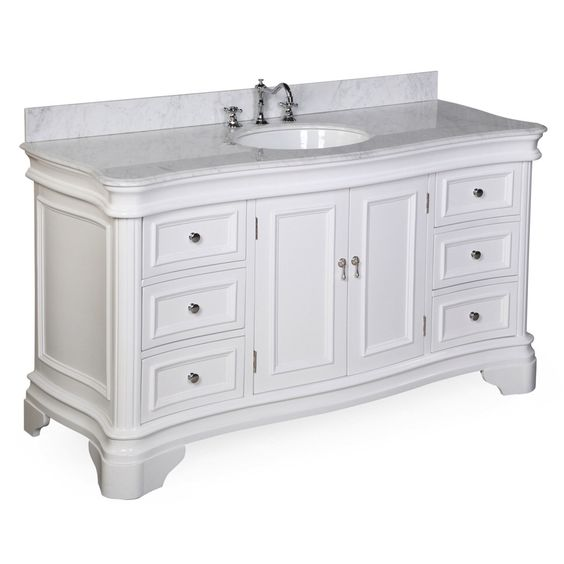 Features:  -Authentic carrara marble countertop.  -Soft-close function.  -Cabinet frame, doors and drawers are solid wood.  -Countertop and sink come pre-installed by the factory.  -Faucet and matchin