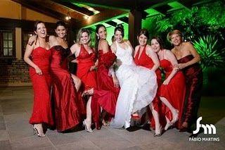 Casamento Planejado: Madrinhas de Vermelho