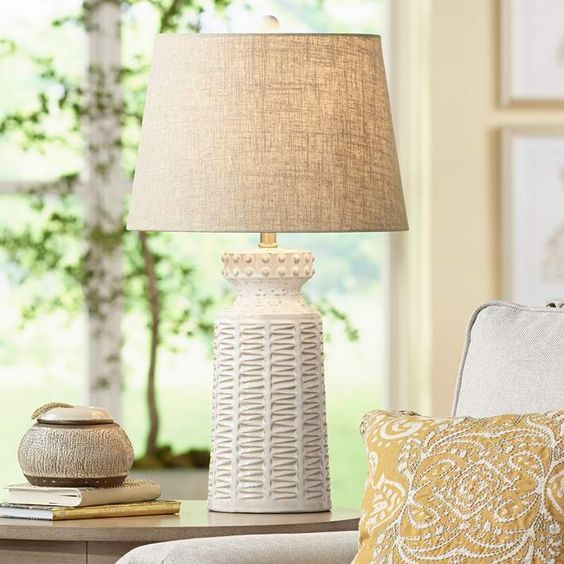 Pin On Lamps #white #table #lamps #for #living #room