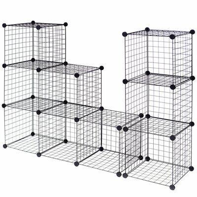 Rebrilliant Ivan Grid Wire Cube Bookcase In 2020 Cube Storage