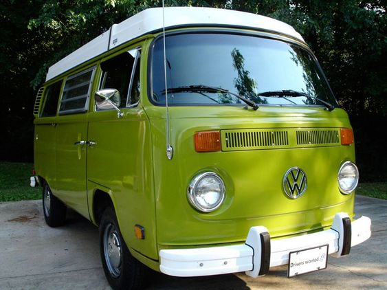 1978 Volkswagen Type 2 Bay Window camper van.