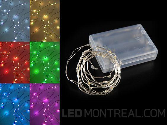 Guirlande de lumière LED féérique à batterie