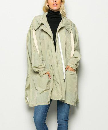 Look at this #zulilyfind! Olive Hooded Jacket #zulilyfinds