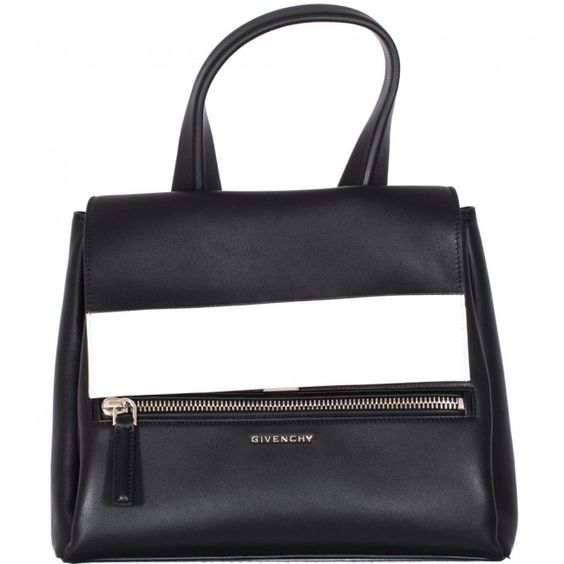 "Black And White Leather Small ""pandora Pure"" Bag - Bags - Grifo210.com"